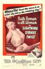 Lightning Strikes Twice 1951 DVD - Richard Todd / Ruth Roman
